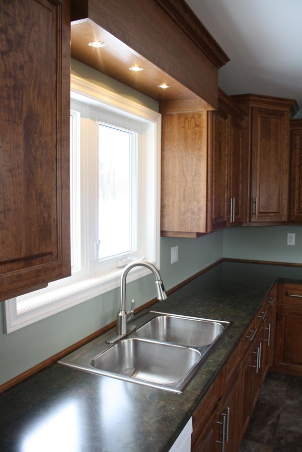Cherry kitchen cupboards c2 dundalk flesherton shelburne for Russells kitchen units