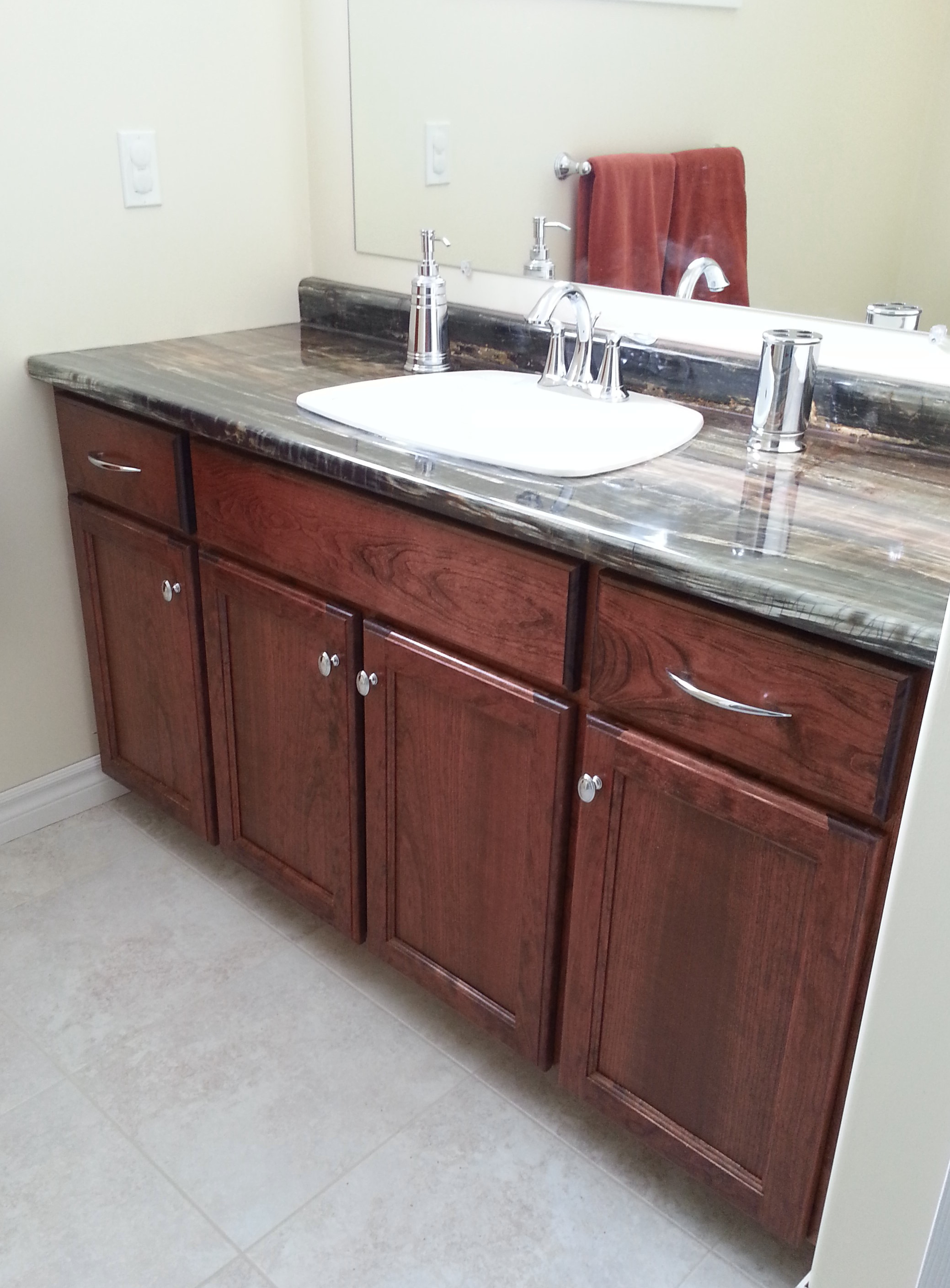 cherry bathroom vanity c5 russell cabinets